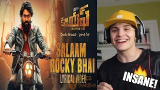KGF Kannada Movie | Salaam Rocky Bhai Song | REACTION