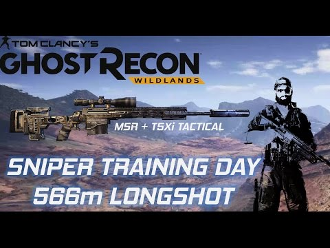 566m LONGSHOT!!! SNIPER TRAINING DAY, BEST RIFLE AND SCOPE- Tom Clancy's Ghost Recon Wildlands E2