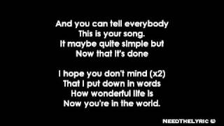 Ellie Goulding - Your Song + Lyrics