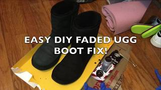 EASY DIY How to Dye Faded/ Salt Stained UGG Boots! - Angelus Dye