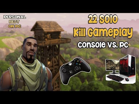 22 Kill Personal BEST on PC! - Xbox Player vs. PC Players - Fortnite Battle Royale Gameplay
