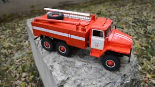 модели из бумаги 62. Готовый Урал 375 Пожарный