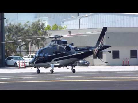 Agusta SPA A109S (N109EX) luxury helicopter landing