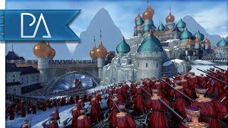 KISLEV FORT SIEGE: REALM OF THE ICE QUEEN - Total War: WARHAMMER Mod Gameplay