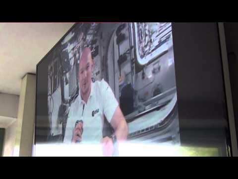 In-flight Call Prince Laurent of Belgium - ESA astronaut Alexander Gerst