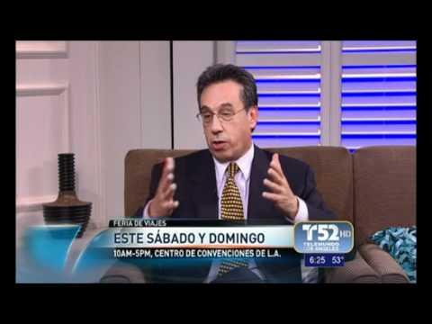 Telemundo entrevista a Jorge Gamboa sobre Mexico y el LA Times Travel Show 2012