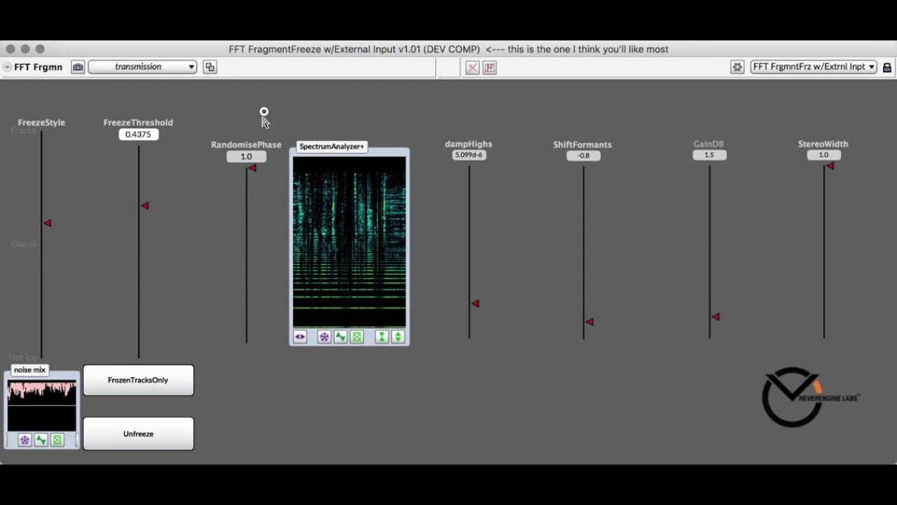 FragFreeze Prototype / NeverEngineLabs for Kyma 7