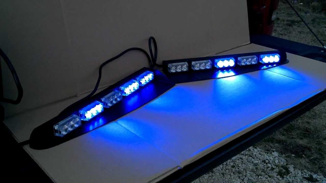 Led Light Bar Interior Black Hawk 5 Tir Interior Visor Led Light Bar Youtube Soundoff