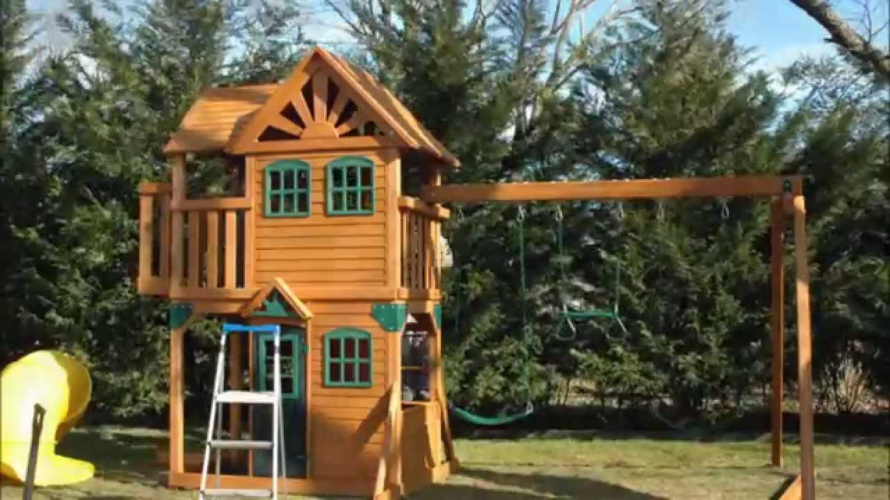 Lovely Playground Sets For Backyards Costco Part - 13: 2012 Costco Mountainview Resort Playset By Cedar Summit .Installed By Dan -  YouTube