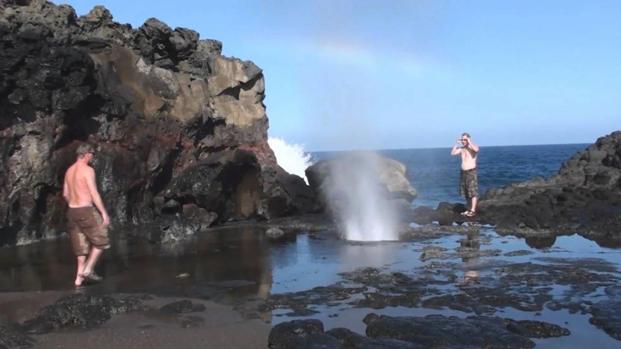 Maui Blow Hole Hawaii Youtube