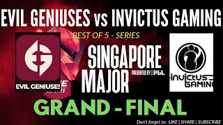 DOTA 2: THE SINGAPORE MAJOR FINALS - EVIL GENIUSES (EG) vs INVICTUS GAMING (IG) - BO5