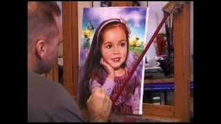 Детский портрет маслом на холсте с фотографии