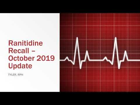 Zantac And Ranitidine Recall October 2019 Update