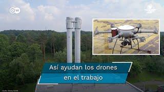 En el puerto de Hamburgo los drones han asumido tareas que antes realizaban escaladores industriales incrementando significativamente la eficiencia de los trabajos de carga y descarga, Pero quedan muchos desafíos de seguridad por resolver  #Drones     #DW      #NuevasTecnologíasEnTrabajo