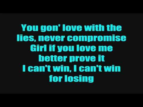 Chris Brown - I Can't Win (Lyrics On Screen)