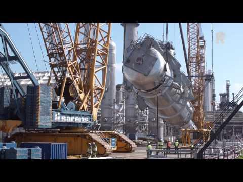 Raffinaderij ExxonMobil breidt skyline uit met nieuwe toren