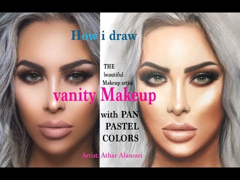 drawing the makeup artist (vanity makeup)  with Panpastel colors