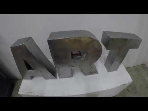 How To Make 3d Letters Out Of Sheet Metal Youtube