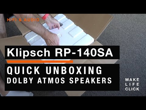 Klipsch RP-140SA Dolby Atmos Height Speaker Unboxing