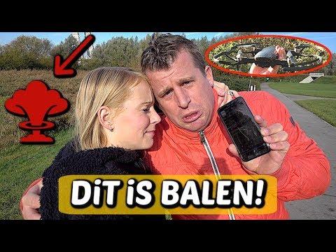 DRONE GECRASHT EN WEG!!! 😱 | Bellinga Familie Vloggers #1175