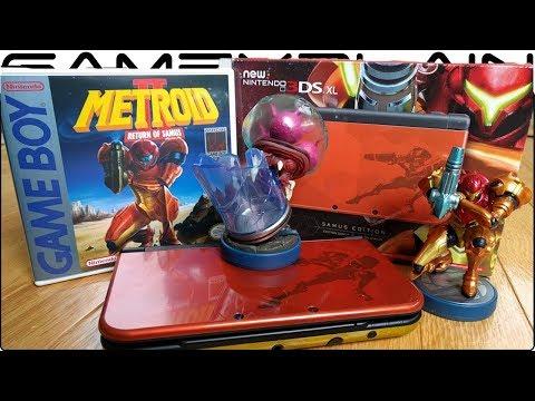 Samus Edition New 3DS XL UNBOXING + New Metroid amiibo + Samus Returns Special Edition