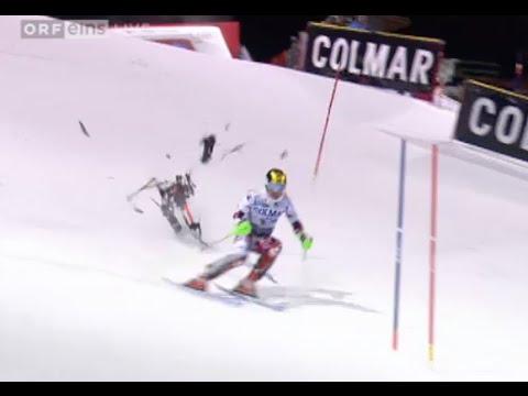 Drone crash at Madonna di Campiglio ski race