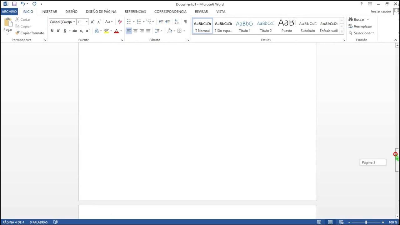 Colocar encabezado en un documento a partir de la segunda pagina ...