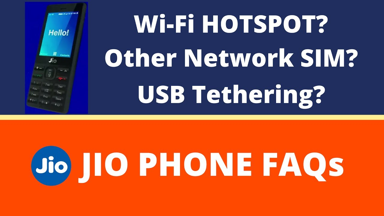 How to use usb tethering in jio phone
