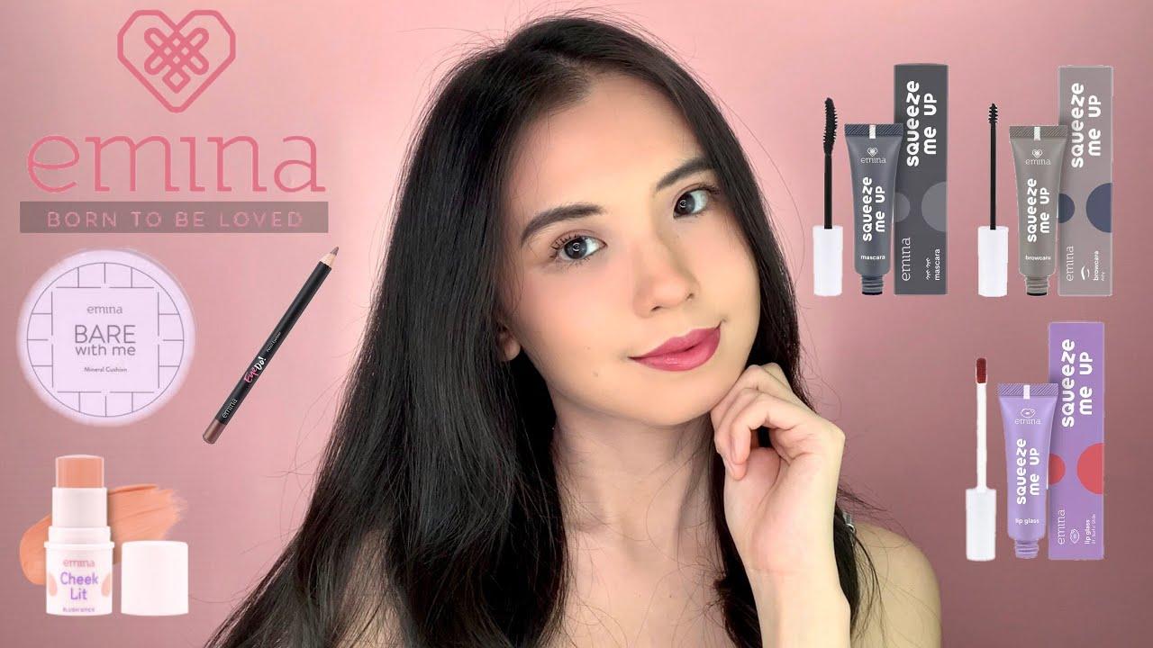EMINA One Brand Makeup Tutorial Review 2021 Simple Natural   Anna Mariana