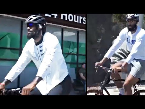 LeBron James, JR Smith, & Anthony Davis SPOTTED Riding Bikes During Protests In LA