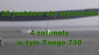 Biały szkwał Mazury 2012 - sztorm 11 w skali Beauforta