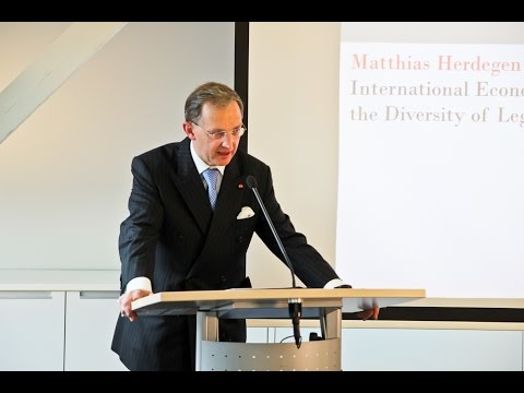 "Book launch: ""Principles of International Economic Law"" - Matthias Herdegen"