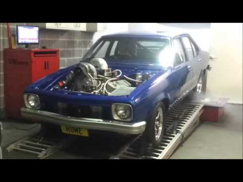 Hume Torana Dyno Run Procharged 565 BBC