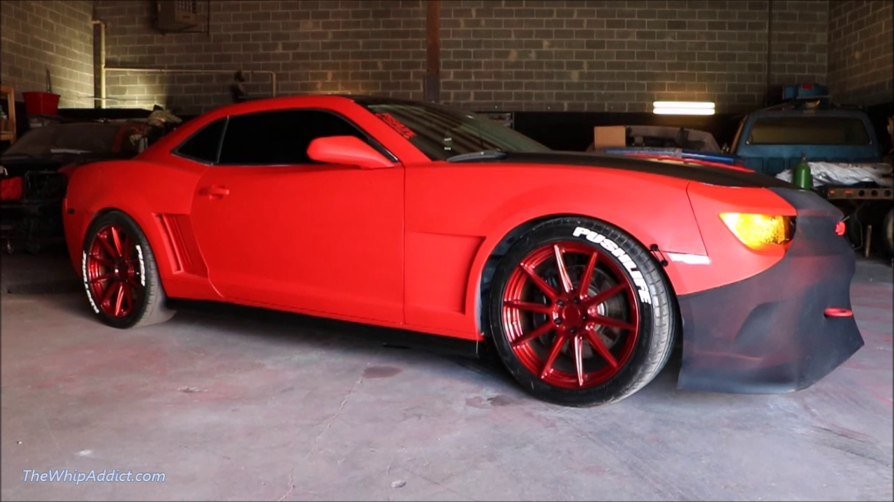 Whipaddict Matte Red 14 Chevrolet Camaro Ss On Red Niche