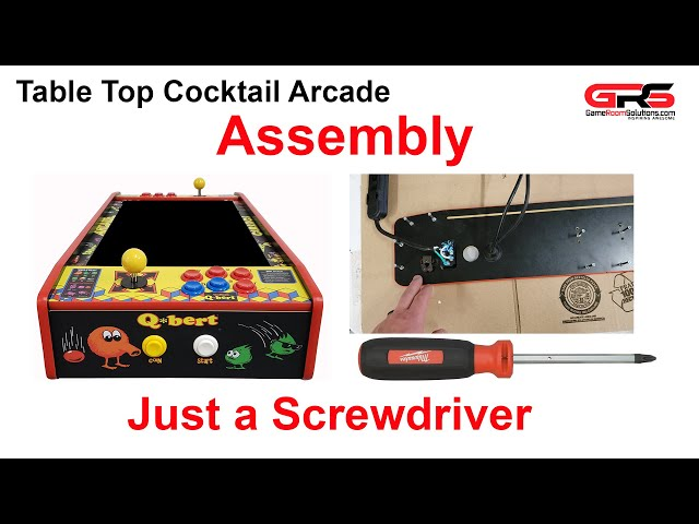 Table Top Cocktail Arcade Cabinet Assembly