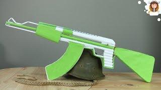 Como fazer uma Ak 47 de Papel - (Dispara / Automática)