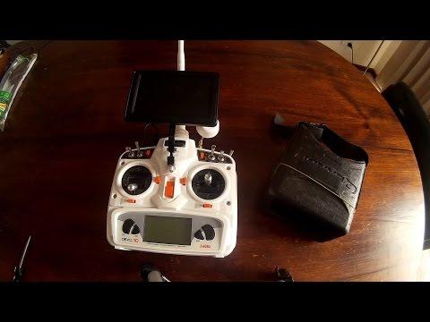 🚁 Mounting Quanum FPV DIY Monitor onto Walkera Devo 10 Radio, using an inexpensive FPV Mount.