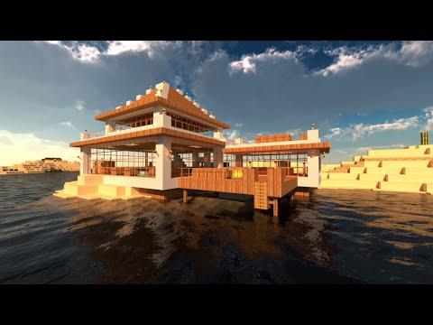 Amazing beach house minecraft tutorial youtube for Beach house designs minecraft
