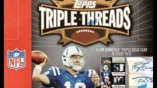 Box Busters Retro: 2007 Topps Triple Threads football cards