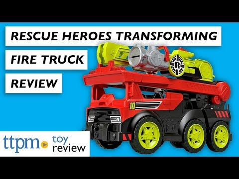 First Look At Rescue Heroes Transforming Fire Truck From Fisher-Price