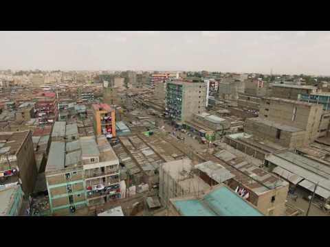 Phantom 3 Pro aerial footage of Huruma Slum in Nairobi, Kenya