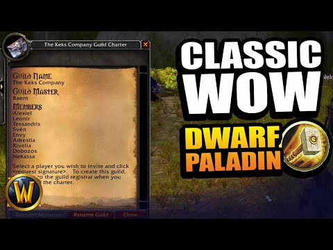 Dwarf Paladin - Creating The Guild (RP Leveling) // WoW Classic