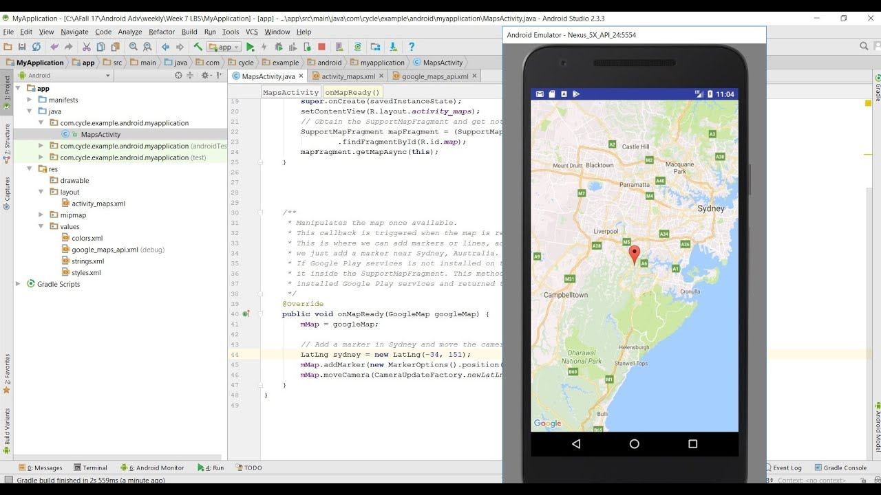 Google Map Tutorial Add Map To Android App Youtube