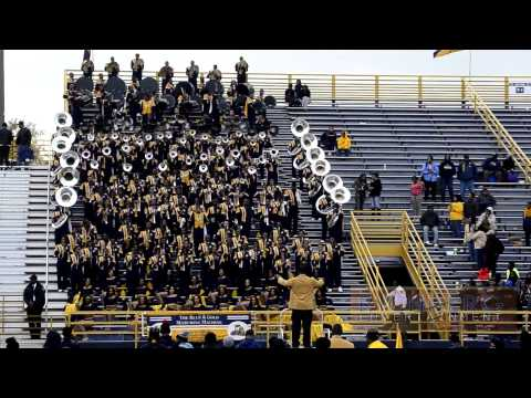 NC A&T Blue and Gold Marching Machine vs Savannah State 5th Quarter Battle 2013