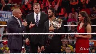"Dean Ambrose interrupts ""Seth Rollins: Architect of a Dream"": Raw, May 18, 2015"