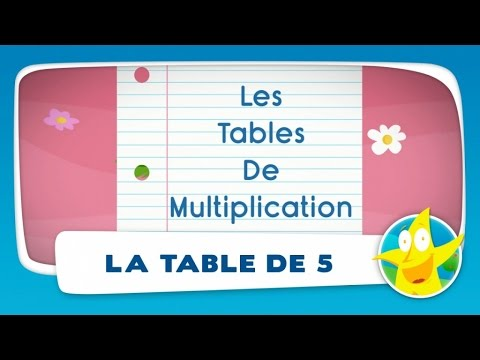 Comptines pour enfants la table de 5 apprendre les for Table de multiplication de 5