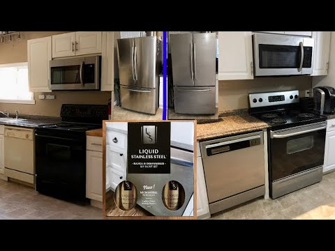 Liquid Stainless Steel Paint Appliances Stainless Steel Youtube