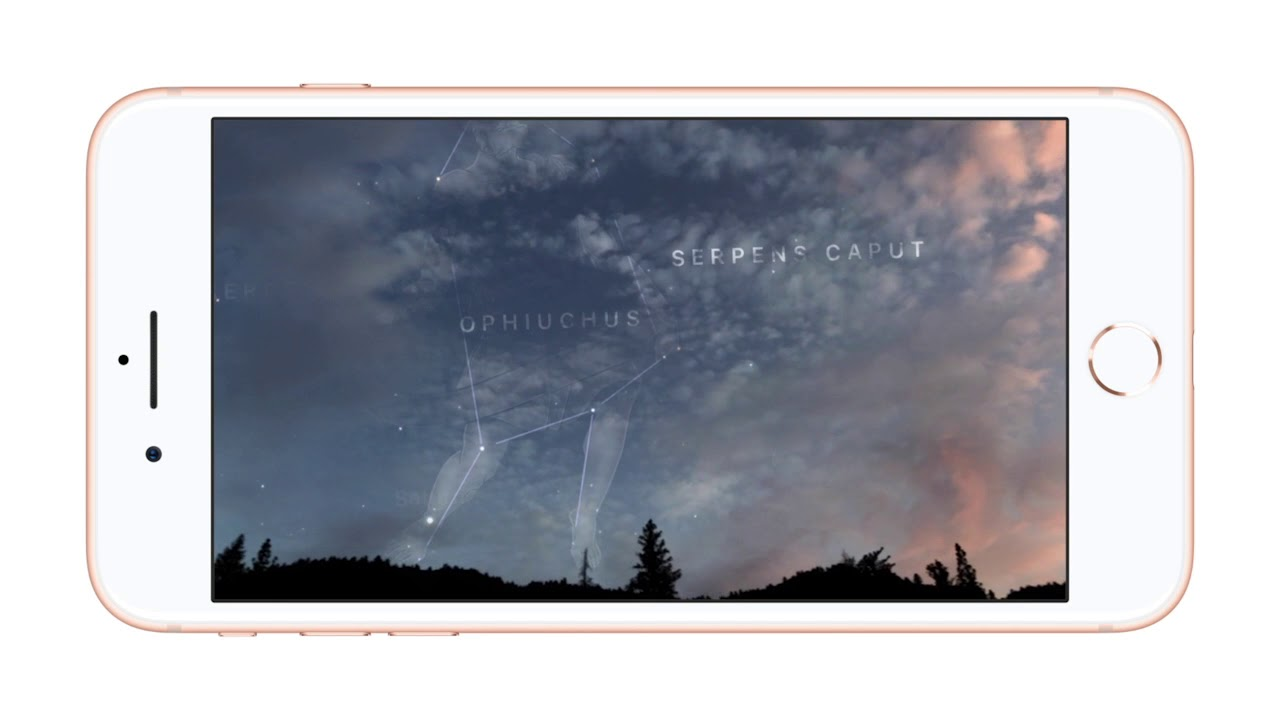 new product 0ecb4 a6ee3 iPhone 8 Plus AR Sky Guide cc us 1280x720h