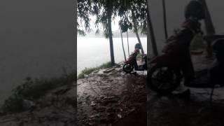 Suasana Hujan Rintik saat di Rawa Binong