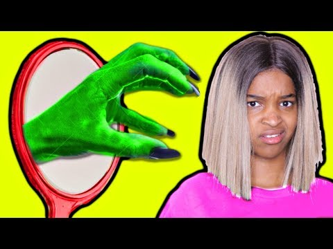 Thumbnail: GIANT GREEN HAND IN MIRROR! vs Shiloh and Shasha - Onyx Kids